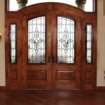 : Front entryway doors with sidelights can be accomplished with a camera