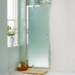 : Frosted glass interior doors for bathrooms are a common solution in the UK