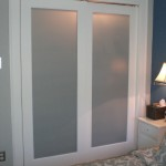 : Frosted glass interior doors for bathrooms are not transparent