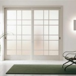 : Frosted glass wooden interior doors can have ornaments
