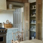 : Full louvered interior doors are appropriate for rustic style