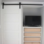 : Hanging sliding closet door track is easy to install