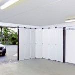 Hanging sliding exterior doors is good for a garage