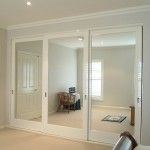 : Hanging sliding wardrobe doors can possess a mirror