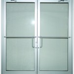 Industrial exterior double doors have increased strength