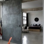 : Industrial hanging sliding doors are stylish