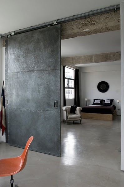 Industrial hanging sliding doors are stylish