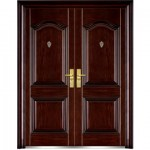 : Inexpensive exterior double doors are usually made of metal