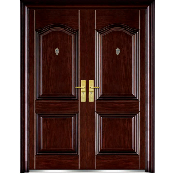 Inexpensive exterior double doors are usually made of metal