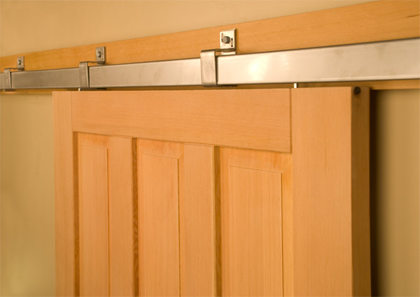 Inexpensive interior barn door hardware is available online