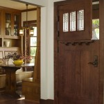 : Interior Dutch door with glass looks more light weighing and elegant