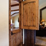 : Interior Dutch door with shelf gives extra space for decorations