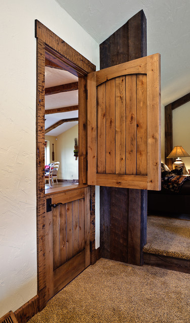 Interior Dutch Door With Shelf Gives Extra Space For Decorations