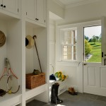 : Interior Dutch door with window is a successful solution for families with kids