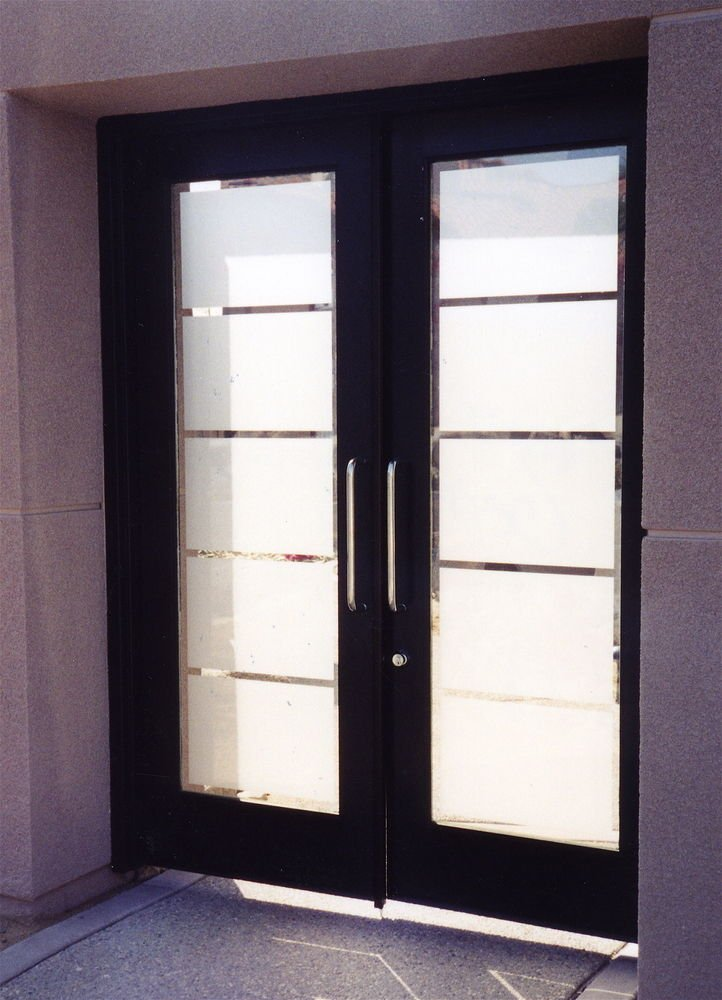 Interior French doors of white color scheme give fresh and clean effect