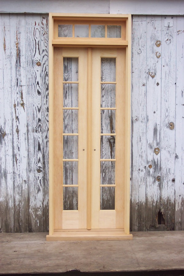 Interior French doors with frame are a wonderful set