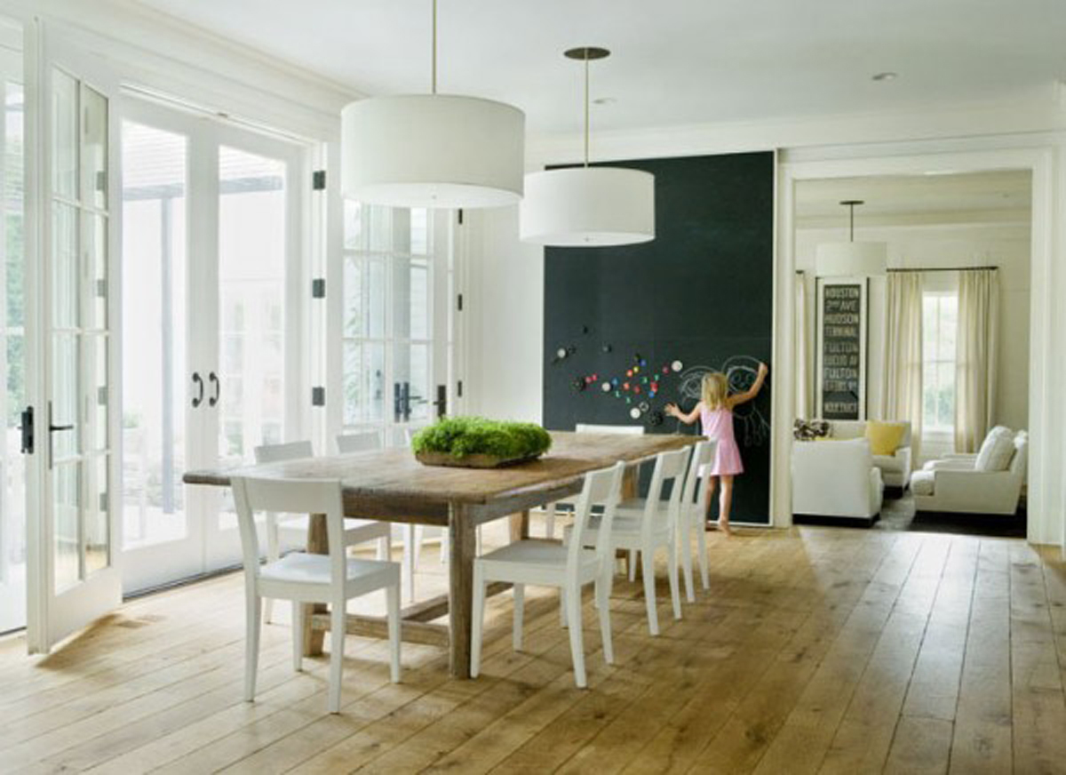 Interior French doors with side panels look very esthetic