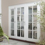 : Interior French doors with sidelights have sensors