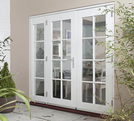 Interior French doors with sidelights have sensors Interior