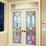 : Interior French doors with tinted glass look chic
