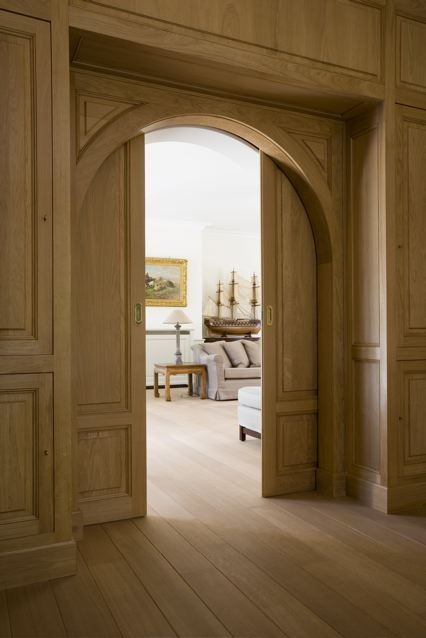 Interior arched pocket doors are gorgeous