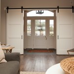 : Interior barn door style hardware can be ordered online