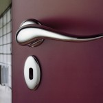 : Interior door handles with latch are very easy to install