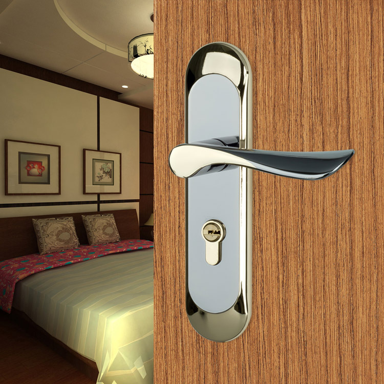 Door handle lock new aluminum material interior door - Door handles with locks for bedrooms ...