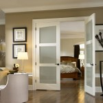: Interior door with frosted glass are likely to have trimmings