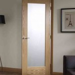 : Interior door with frosted glass insert can be ideal for bathrooms