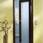 : Interior doors with decorative glass inserts look impressively