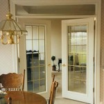 : Interior glass door with transom have a neat look