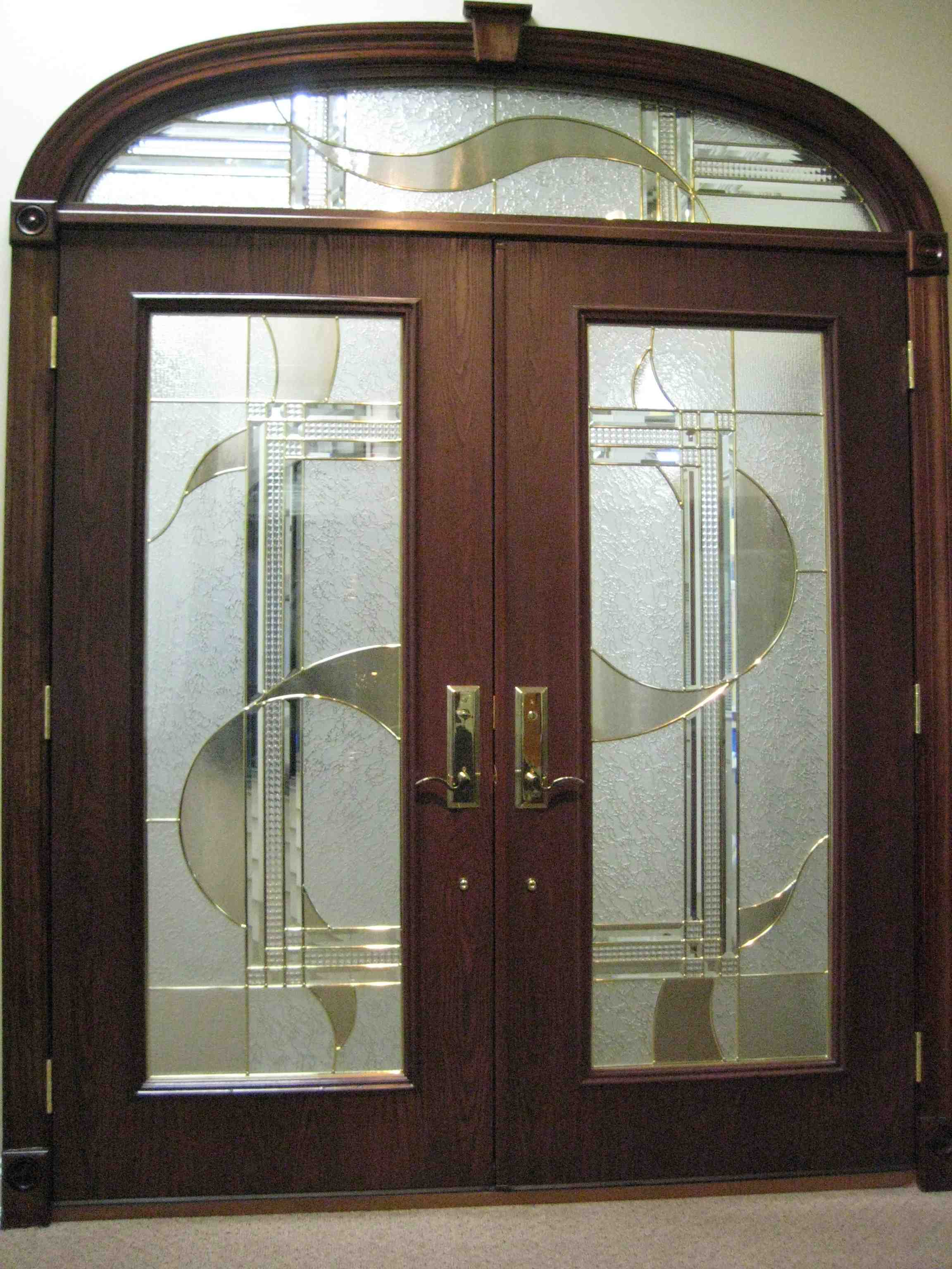 Interior glass doors can be used for the entire house