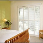 : Interior glass doors with blinds are great for a kitchen