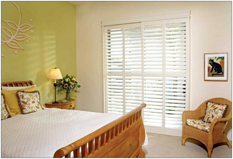 Interior glass doors with blinds are great for a kitchen