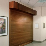 : Interior glass roll up doors are often installed in huge halls and hotels