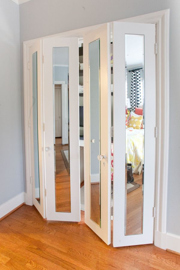 Interior metal French doors will decorate the space