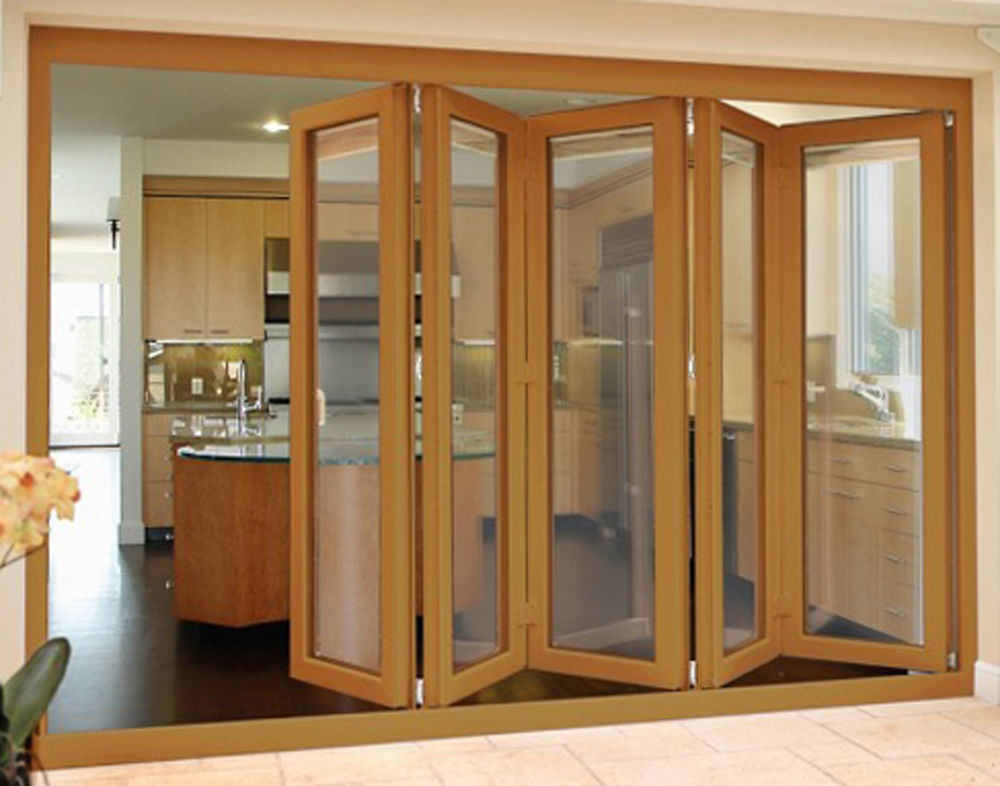 Interior oak effect doors are made of plastic