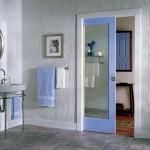 : Interior pocket doors with frosted glass are good for bathrooms
