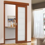 : Interior pocket doors with glass inserts resemble windows