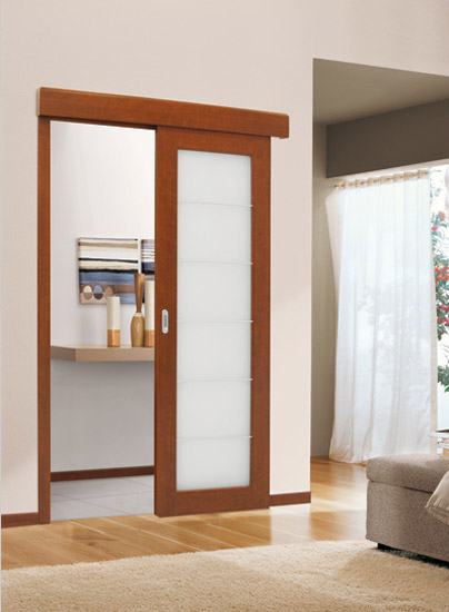 Interior Pocket Doors With Glass Inserts Resemble Windows