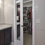 : Interior pocket double doors are designed for spacious places