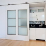 Interior pocket sliding doors are used in shops