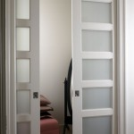 : Interior solid wood door with glass insert are elegant and stylish