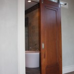 : Interior sound proof door with sweeping mechanism saves the space