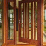 : Interior wooden doors with glass panels look classy