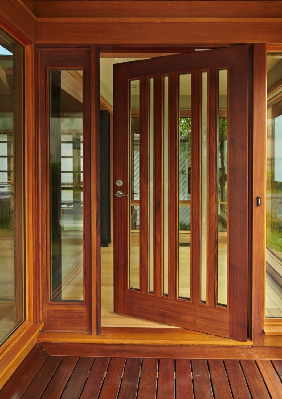 Interior wooden doors with glass panels look classy