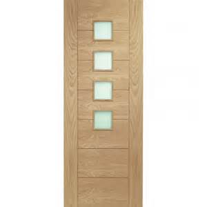 Internal oak doors with obscure glass will make the interior sleek