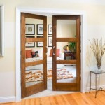 Internal solid wood doors may be decorated with glass, inserts or incrustations