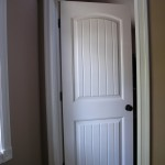 : Internal solid wood white doors are universal and bring some festive spirit